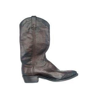 Dan Post Genuine Lizard Boots Cherry Brown 9